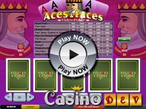 Click to play Aces and Faces Video Poker